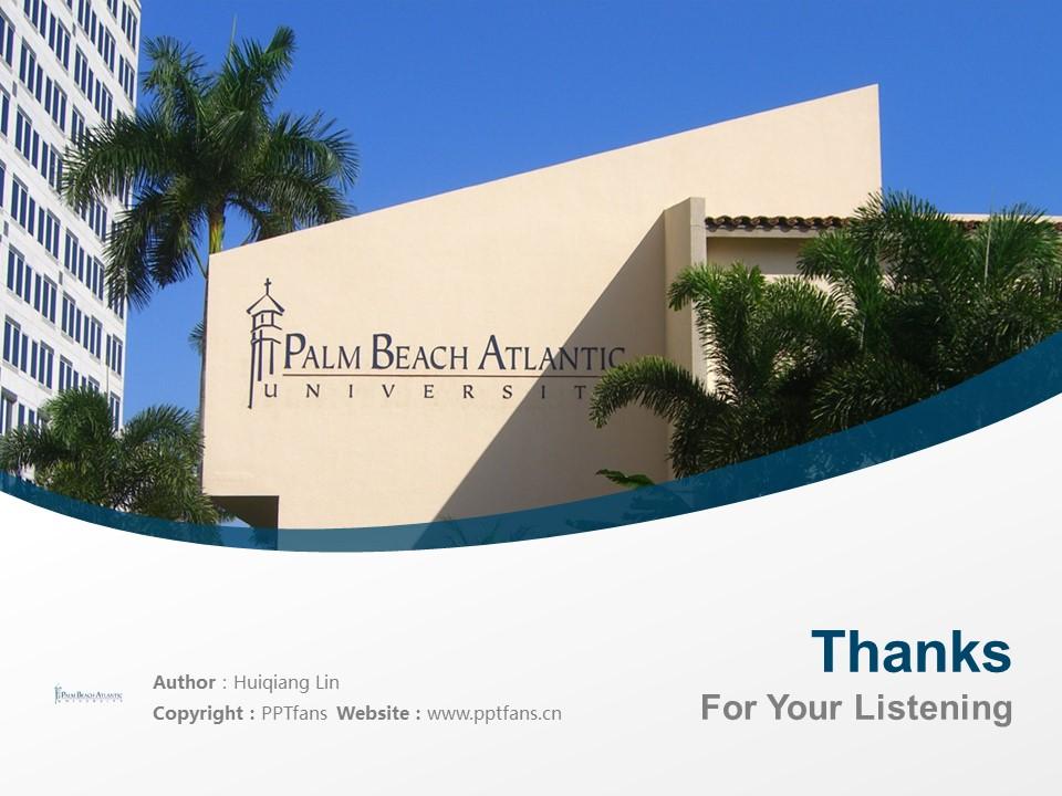 Palm Beach Atlantic University Powerpoint Template Download | 棕榈海滩大西洋大学PPT模板下载_slide19