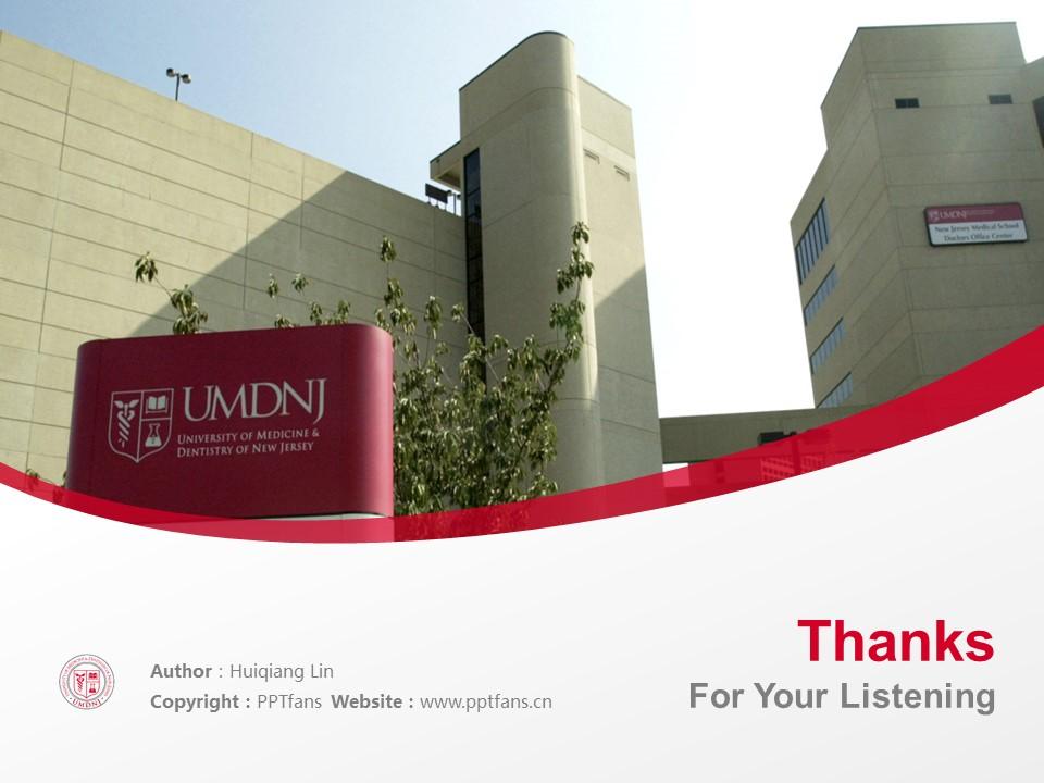 University of Medicine & Dentistry of New Jersey Powerpoint Template Download | 新泽西医科和牙科大学PPT模板下载_幻灯片19