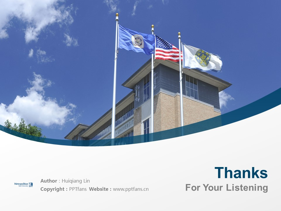 Metropolitan State University Powerpoint Template Download | 州立大都会大学PPT模板下载_幻灯片19