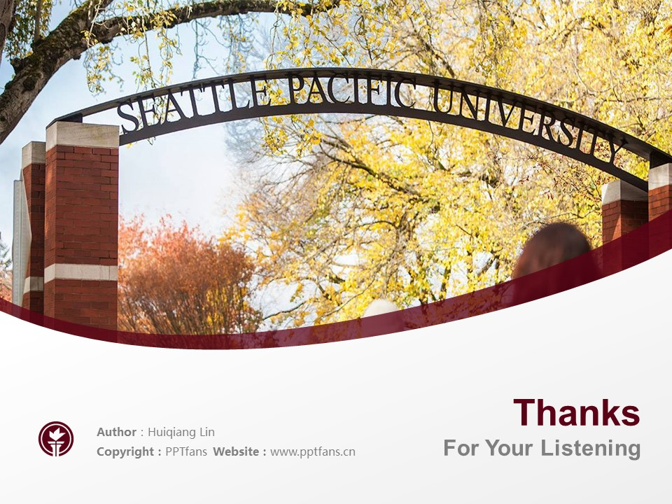 Seattle Pacific University Powerpoint Template Download | 西雅图太平洋大学PPT模板下载_slide19