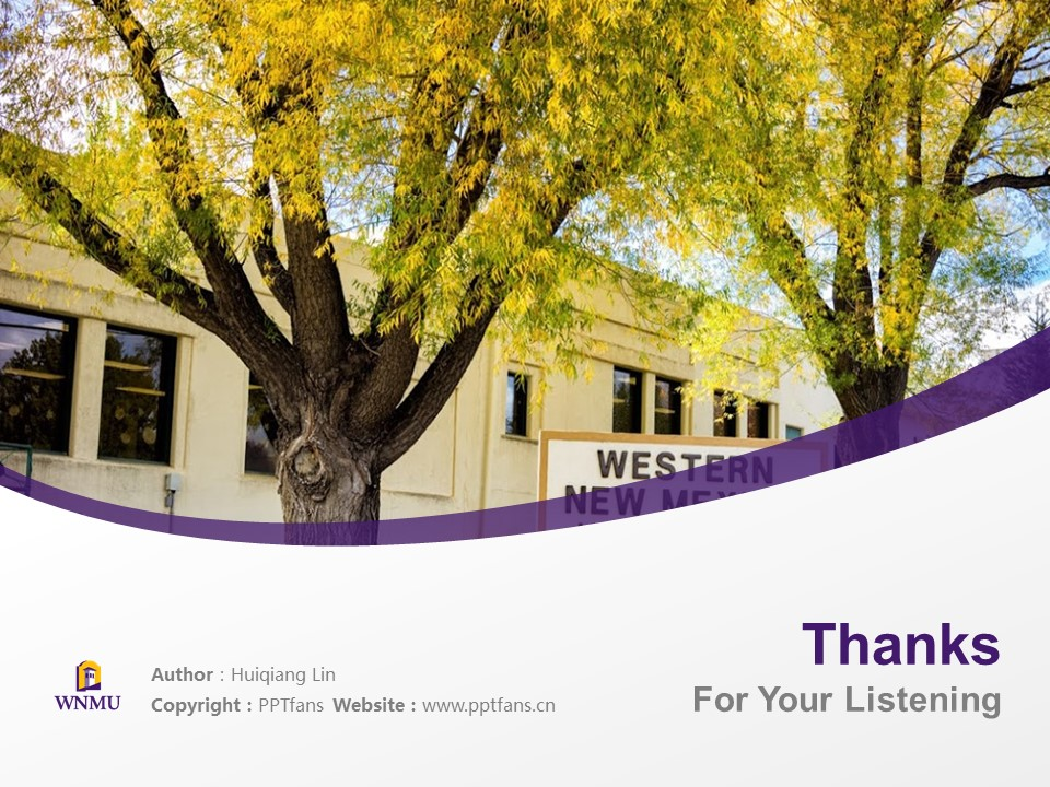 Western New Mexico University Powerpoint Template Download | 西新墨西哥大学PPT模板下载_slide19