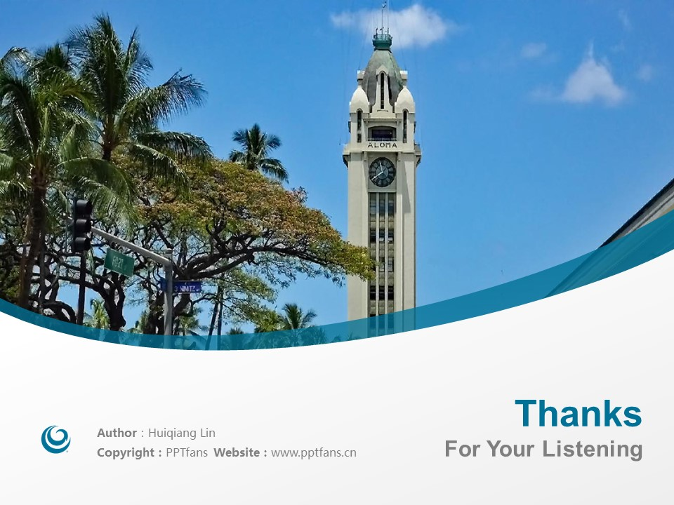 Hawaii Pacific University Powerpoint Template Download | 夏威夷太平洋大学PPT模板下载_幻灯片19