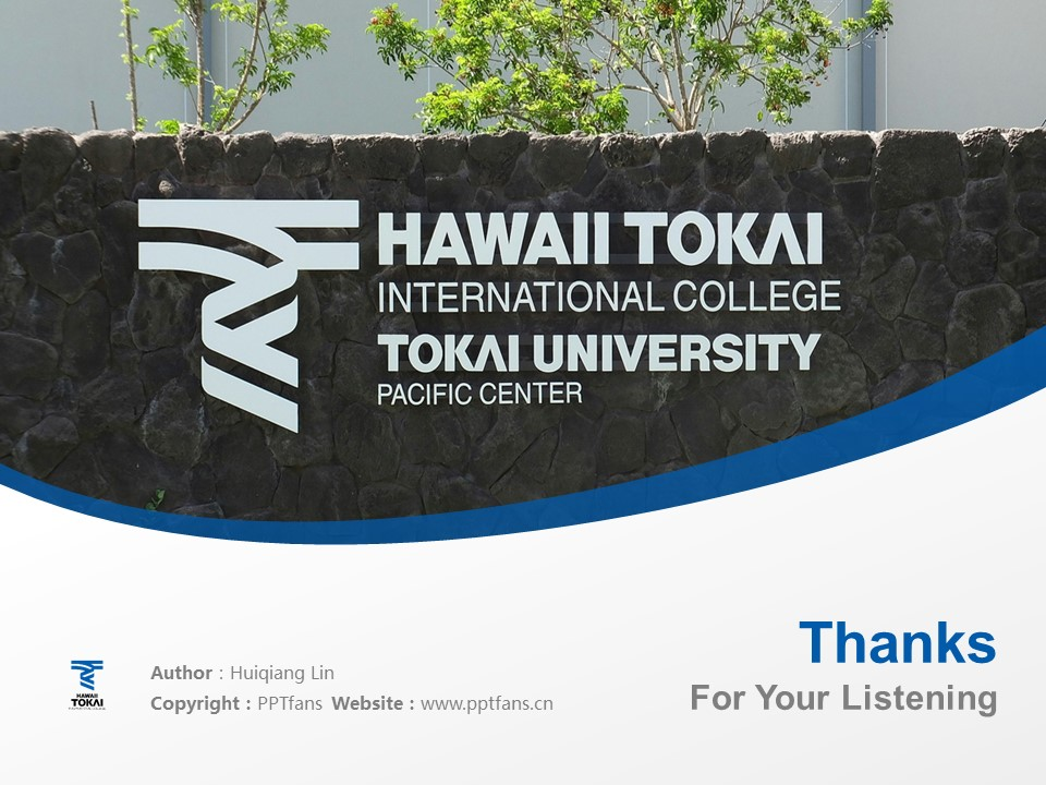 Hawaii Tokai International College Powerpoint Template Download | 夏威夷东海国际短期大学PPT模板下载_幻灯片19