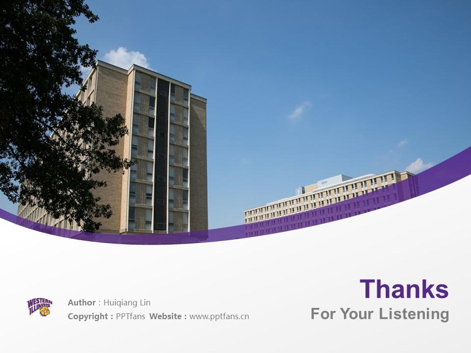 Western Illinois University Powerpoint Template Download | 西伊利诺斯大学PPT模板下载_幻灯片19