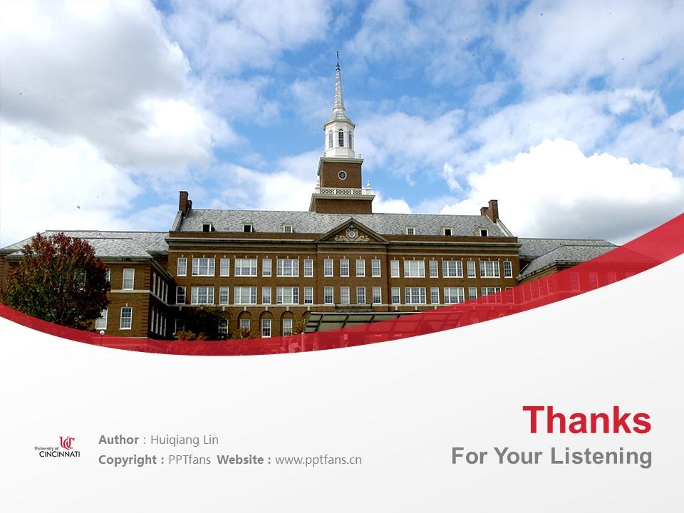 University of Cincinnati Powerpoint Template Download | 辛辛那提大学PPT模板下载_slide19