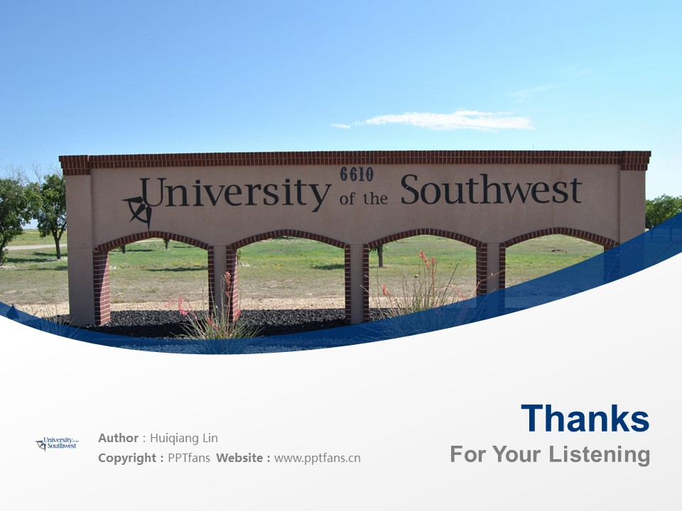 University of the Southwest Powerpoint Template Download | 西南学院PPT模板下载_幻灯片19