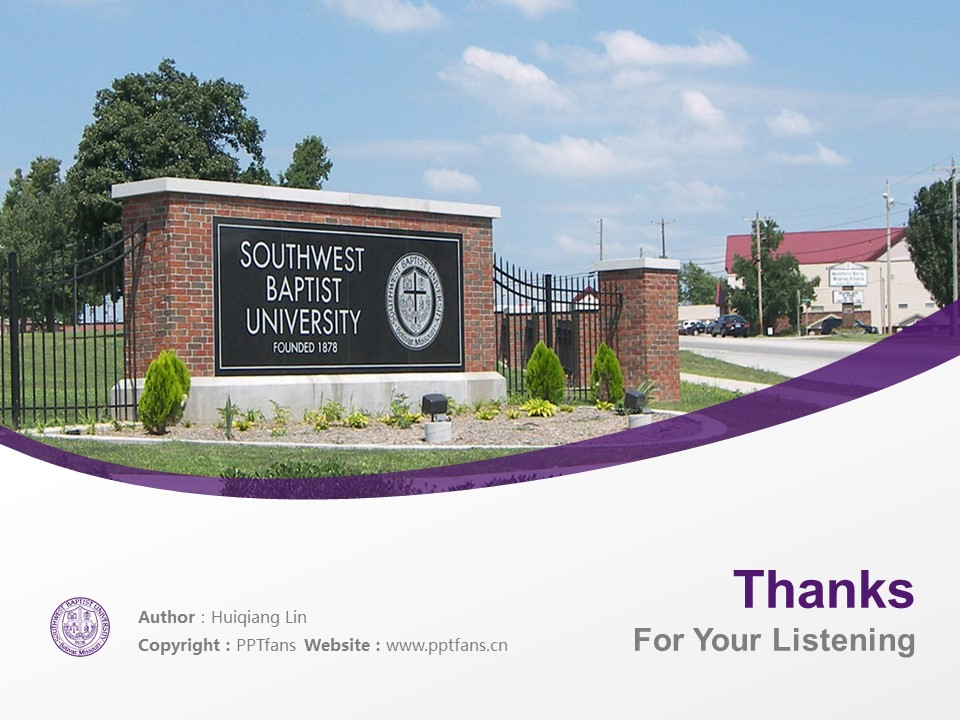 Southwest Baptist University Powerpoint Template Download | 西南浸会大学PPT模板下载_幻灯片19