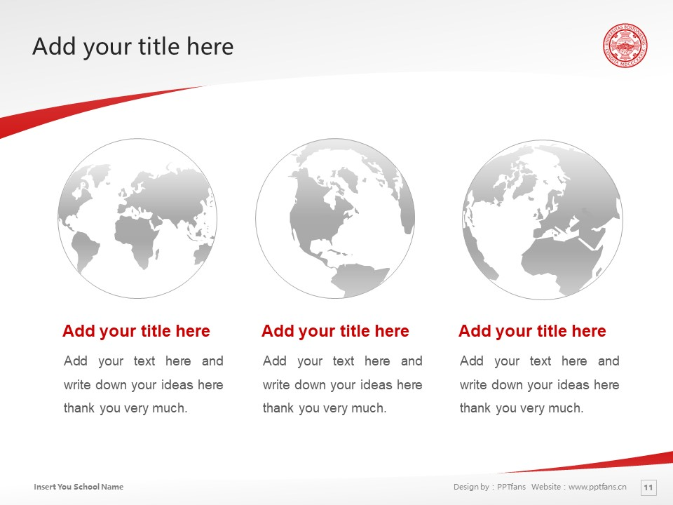 Boston University Powerpoint Template Download | 波士顿大学PPT模板下载_slide10