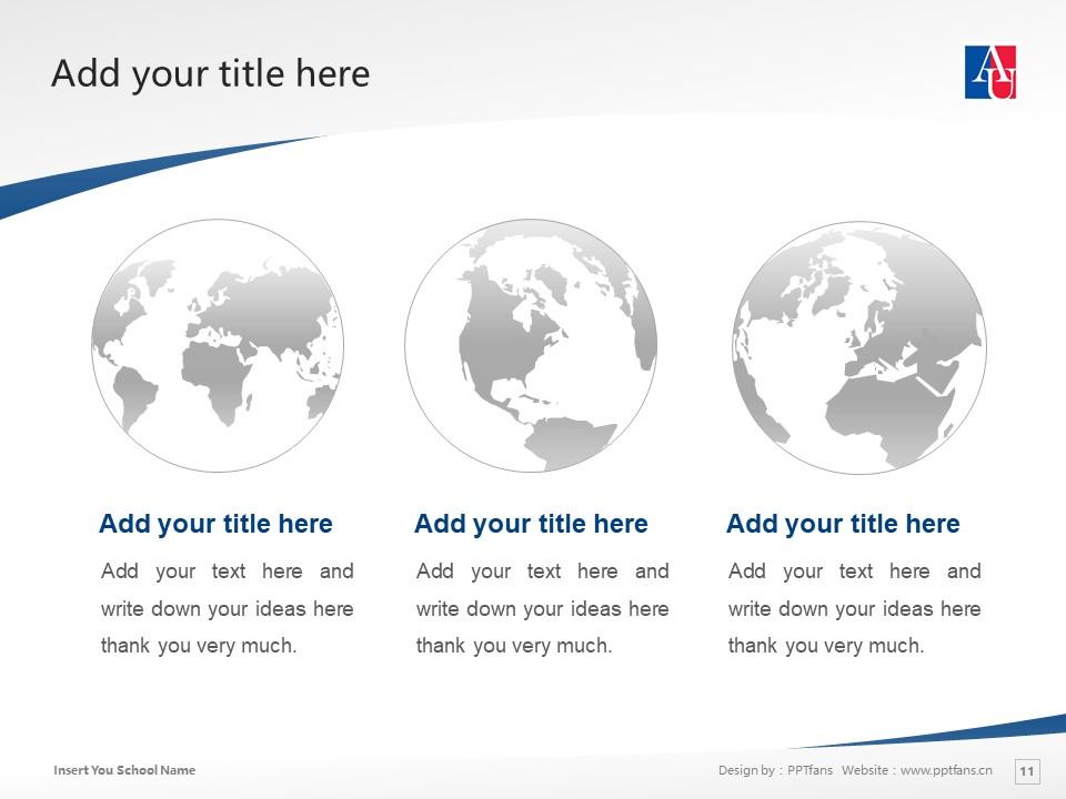 American University Washington, D.C. Powerpoint Template Download | 美国大学PPT模板下载_slide11