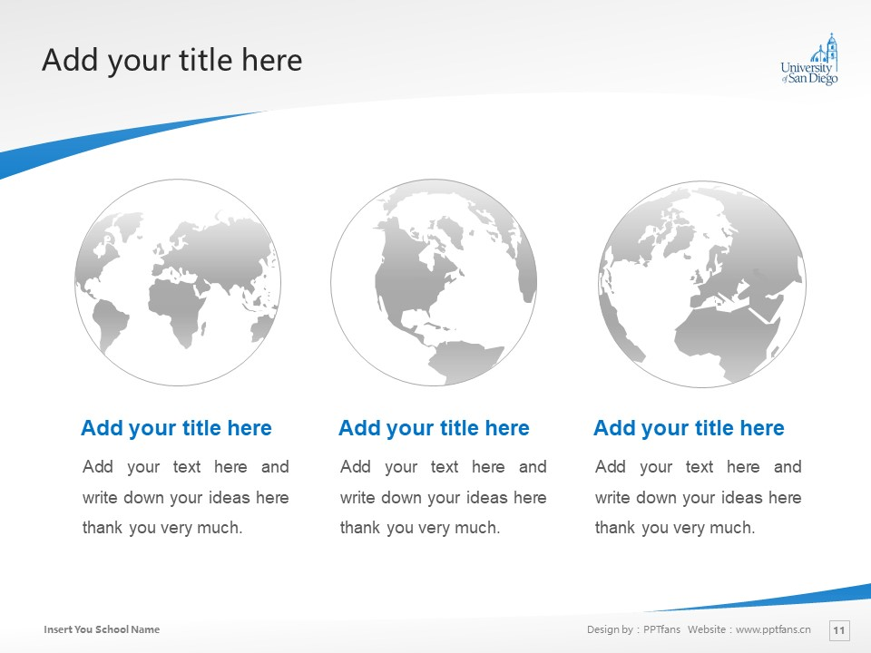 University of San Diego Powerpoint Template Download | 圣地亚哥大学PPT模板下载_slide11