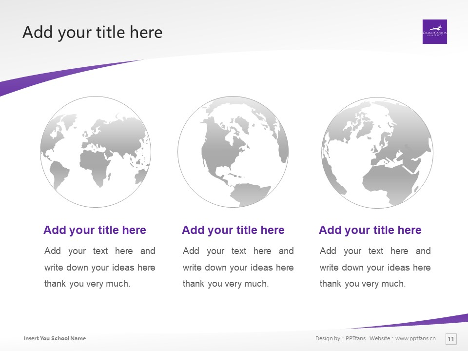 Grand Canyon University Powerpoint Template Download | 大峡谷大学PPT模板下载_slide11