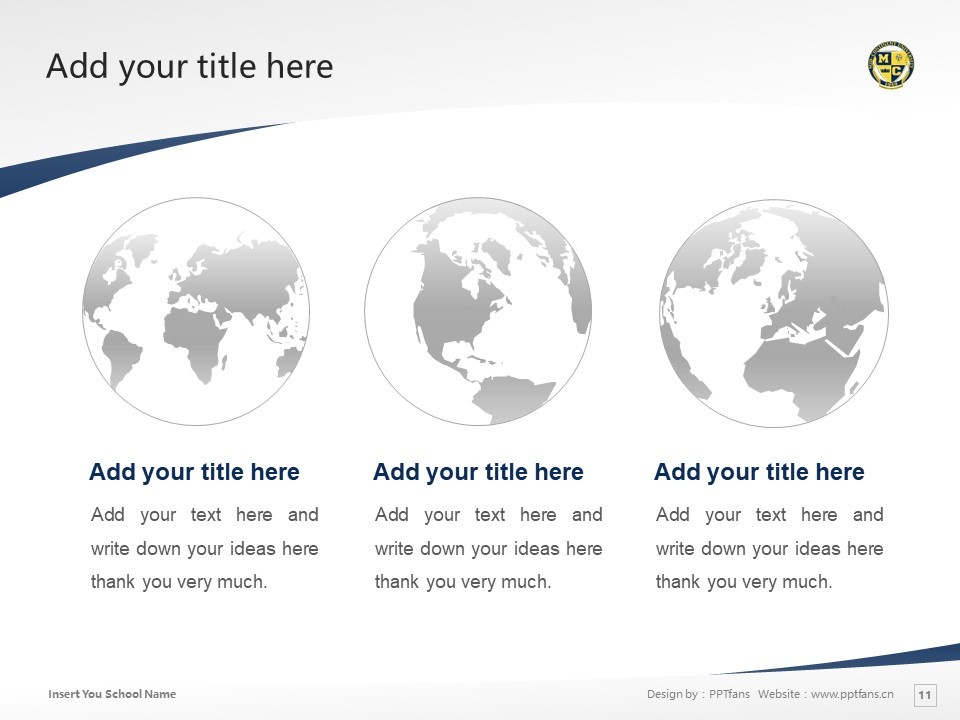 Mid-Continent College Powerpoint Template Download | 中陆学院PPT模板下载_slide11