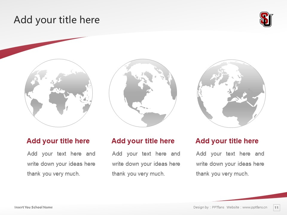 Seattle University Powerpoint Template Download | 西雅图大学PPT模板下载_slide11