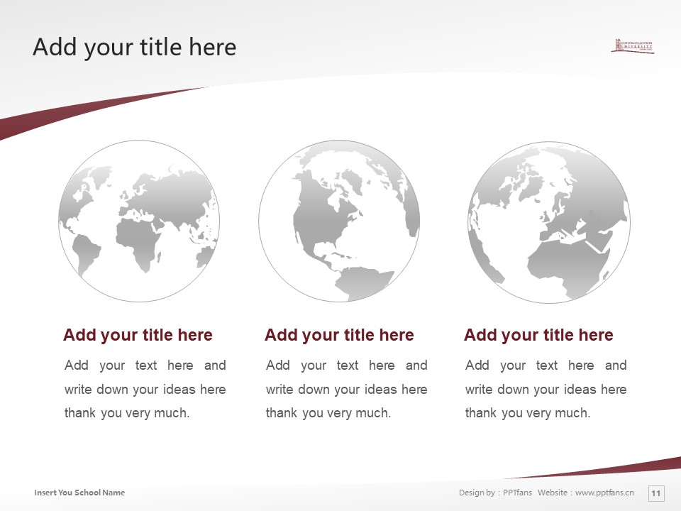 Huston-Tillotson College Powerpoint Template Download | 休斯顿蒂罗森学院PPT模板下载_幻灯片11