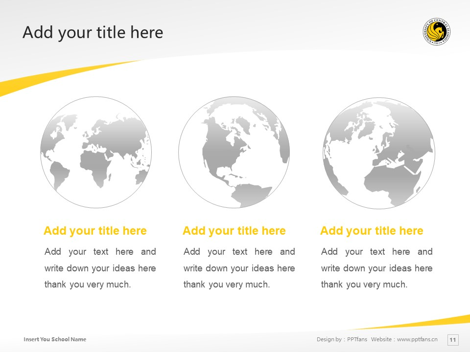 University of Central Florida Powerpoint Template Download | 中佛罗里达大学PPT模板下载_slide11