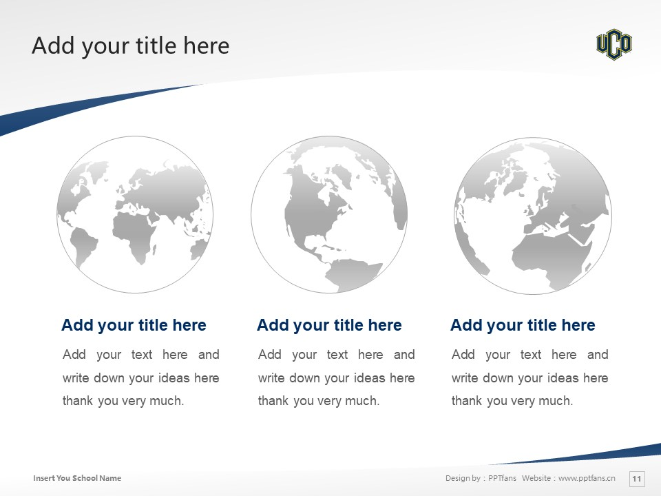 University of Central Oklahoma Powerpoint Template Download | 中俄克拉荷马大学PPT模板下载_幻灯片11