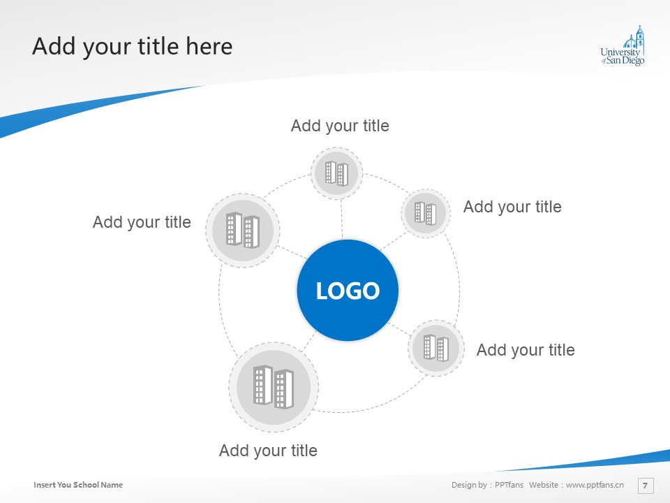 University of San Diego Powerpoint Template Download | 圣地亚哥大学PPT模板下载_slide7