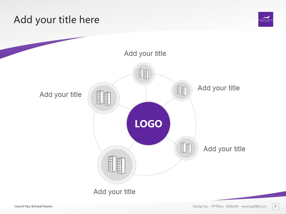 Grand Canyon University Powerpoint Template Download | 大峡谷大学PPT模板下载_slide7