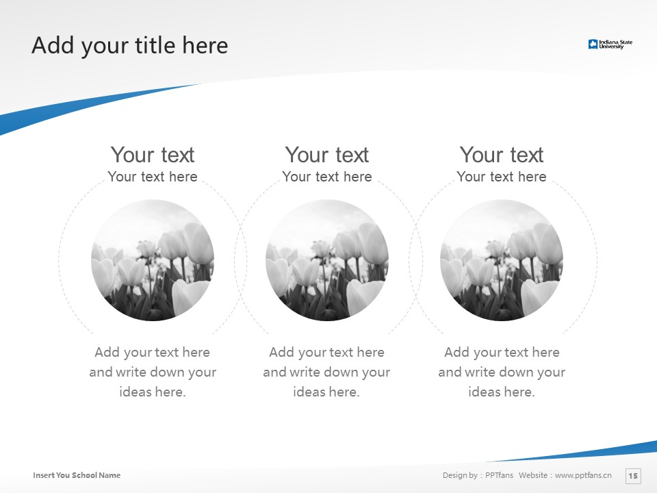 Indiana State University Powerpoint Template Download | 印第安纳州立大学PPT模板下载_slide15