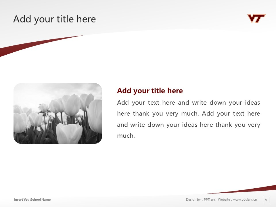 Virginia Polytechnic Institute and State University Powerpoint Template Download | 弗吉尼亚理工学院与州立大学PPT模板下载_幻灯片4