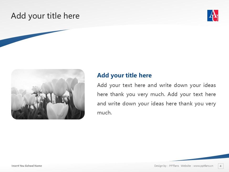 American University Washington, D.C. Powerpoint Template Download | 美国大学PPT模板下载_slide4