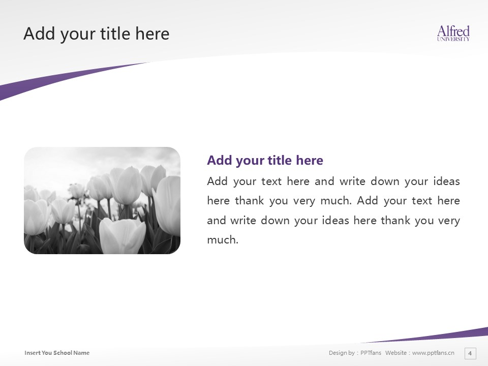 Alfred University Powerpoint Template Download | 美国艾尔佛雷德大学PPT模板下载_slide4