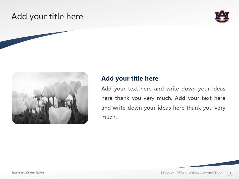 Auburn University Powerpoint Template Download | 美国奥本大学PPT模板下载_slide4