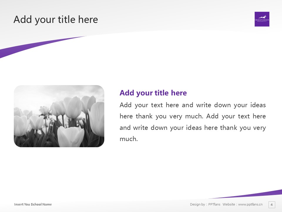 Grand Canyon University Powerpoint Template Download | 大峡谷大学PPT模板下载_slide4