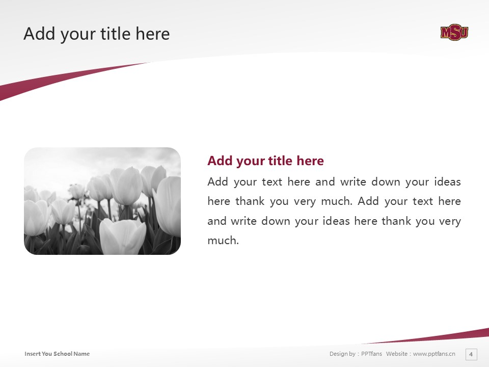 Midwestern State University Powerpoint Template Download | 中西州立大学PPT模板下载_幻灯片4