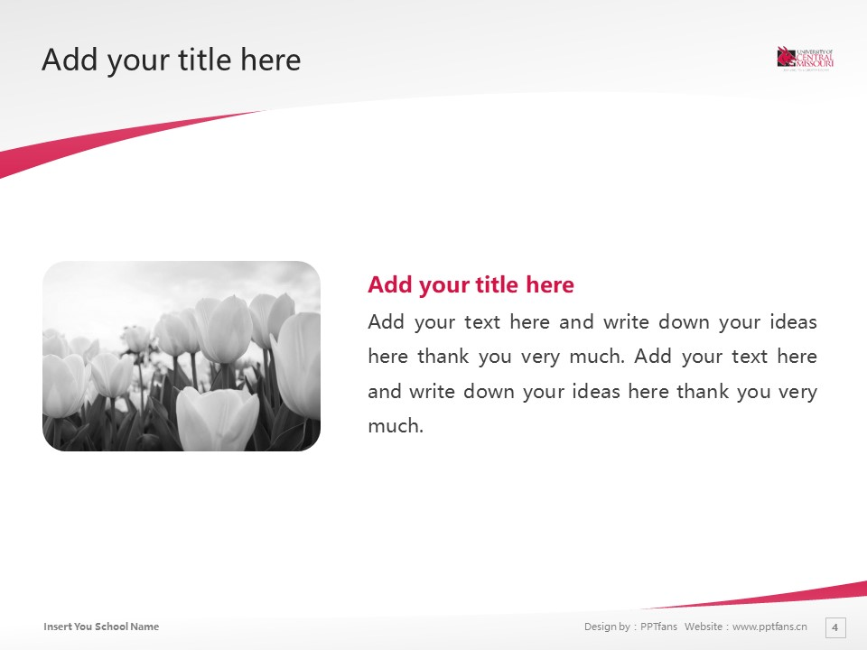 Central Missouri State University Powerpoint Template Download | 中密苏里州立大学PPT模板下载_幻灯片4
