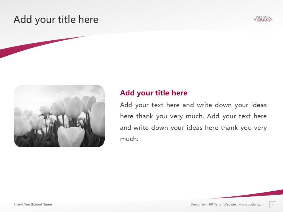 Indiana Wesleyan University Powerpoint Template Download | 印第安纳卫斯理大学PPT模板下载_slide4
