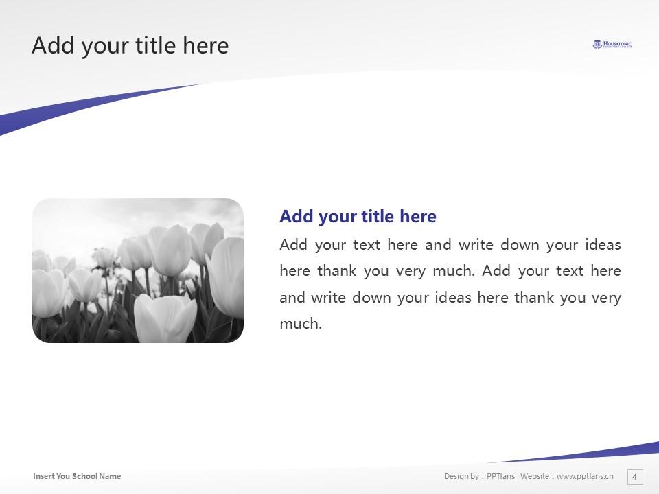 Housatonic Community College Powerpoint Template Download | 休萨托尼克社区学院PPT模板下载_slide4