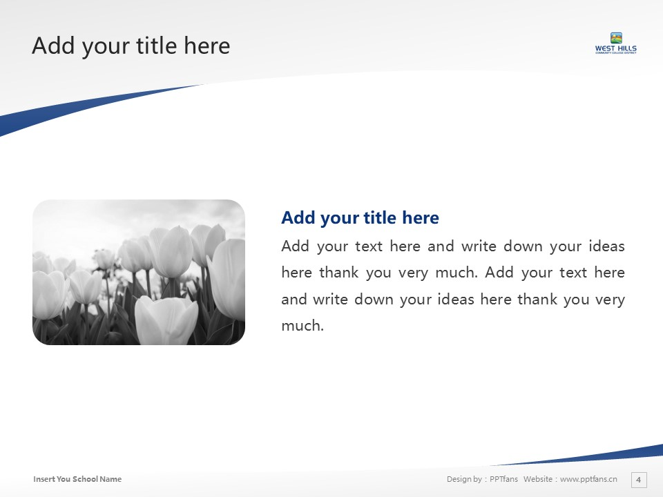 West Hills Community College Powerpoint Template Download | 西山社区学院PPT模板下载_幻灯片4
