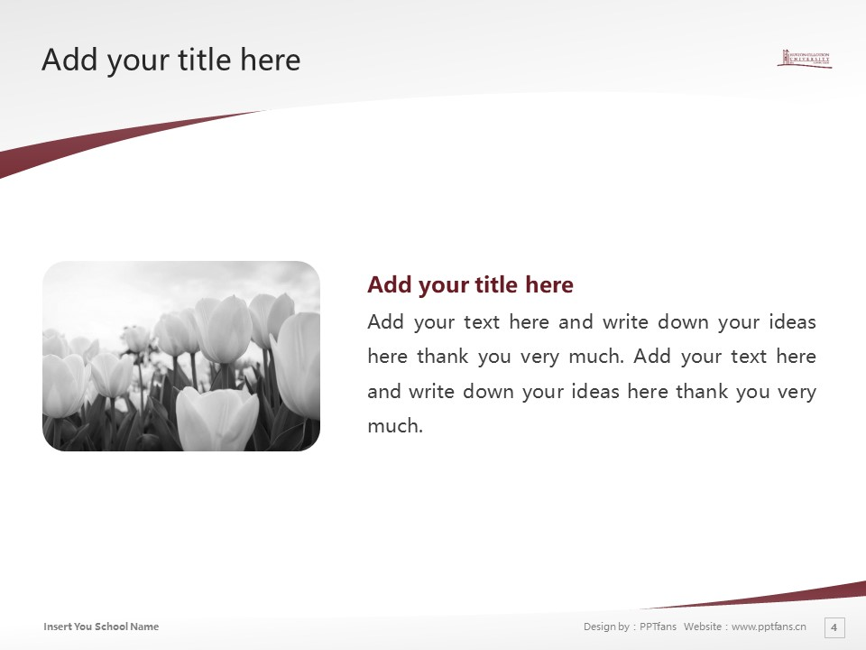 Huston-Tillotson College Powerpoint Template Download | 休斯顿蒂罗森学院PPT模板下载_slide4