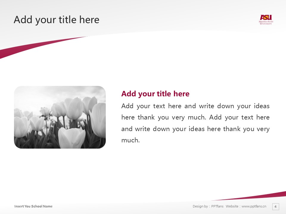 Arizona State University West Powerpoint Template Download | 西亚利桑那州立大学PPT模板下载_slide4