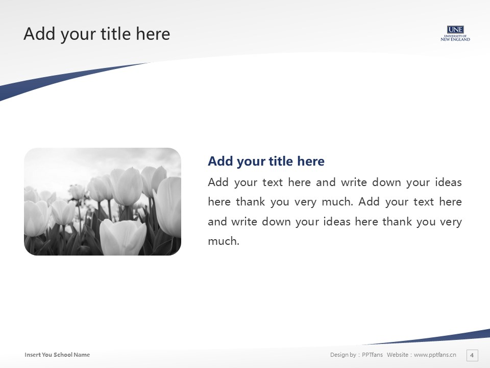 University of New England Powerpoint Template Download | 新英格兰大学PPT模板下载_幻灯片4