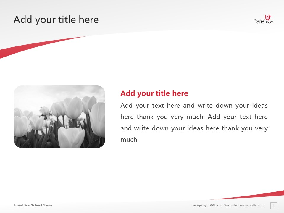 University of Cincinnati-Raymond Walters College Powerpoint Template Download | 辛辛那提大学-雷蒙德沃尔特斯学院PPT模板下载_幻灯片4