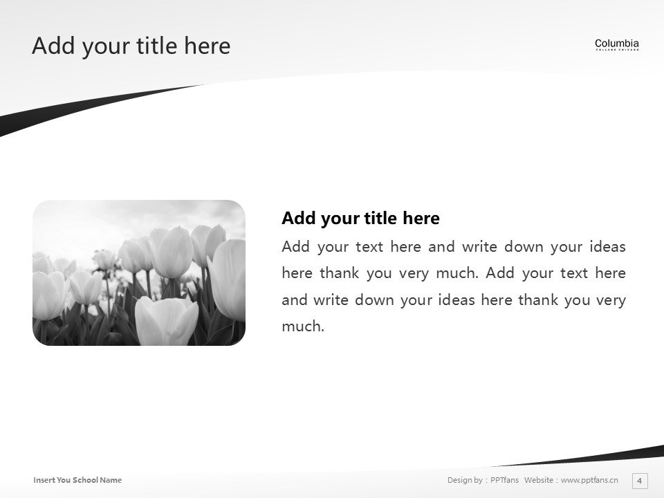 Columbia College Chicago Powerpoint Template Download | 芝加哥哥伦比亚学院PPT模板下载_幻灯片4