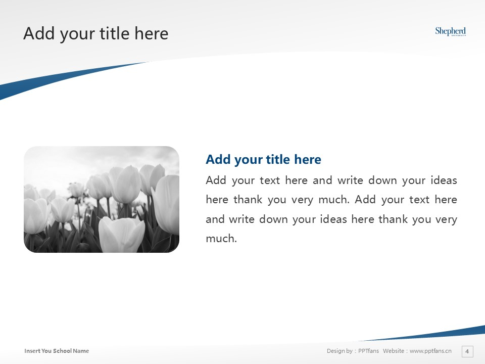 Shepherd College Powerpoint Template Download | 谢泼兹敦学院PPT模板下载_幻灯片4