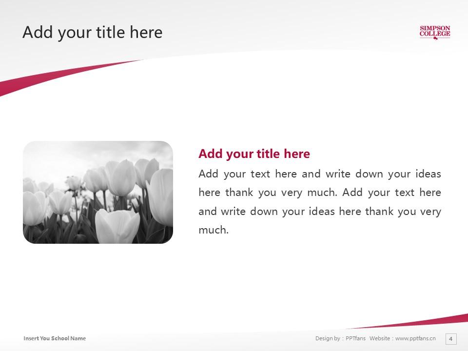 Simpson College Powerpoint Template Download | 辛普森学院PPT模板下载_slide4