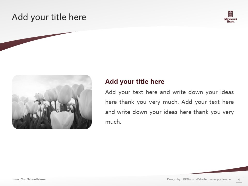 Missouri State University Powerpoint Template Download | 密苏里州立大学PPT模板下载_slide4