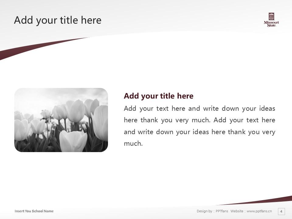 Missouri State University Powerpoint Template Download | 密苏里州立大学PPT模板下载_幻灯片4