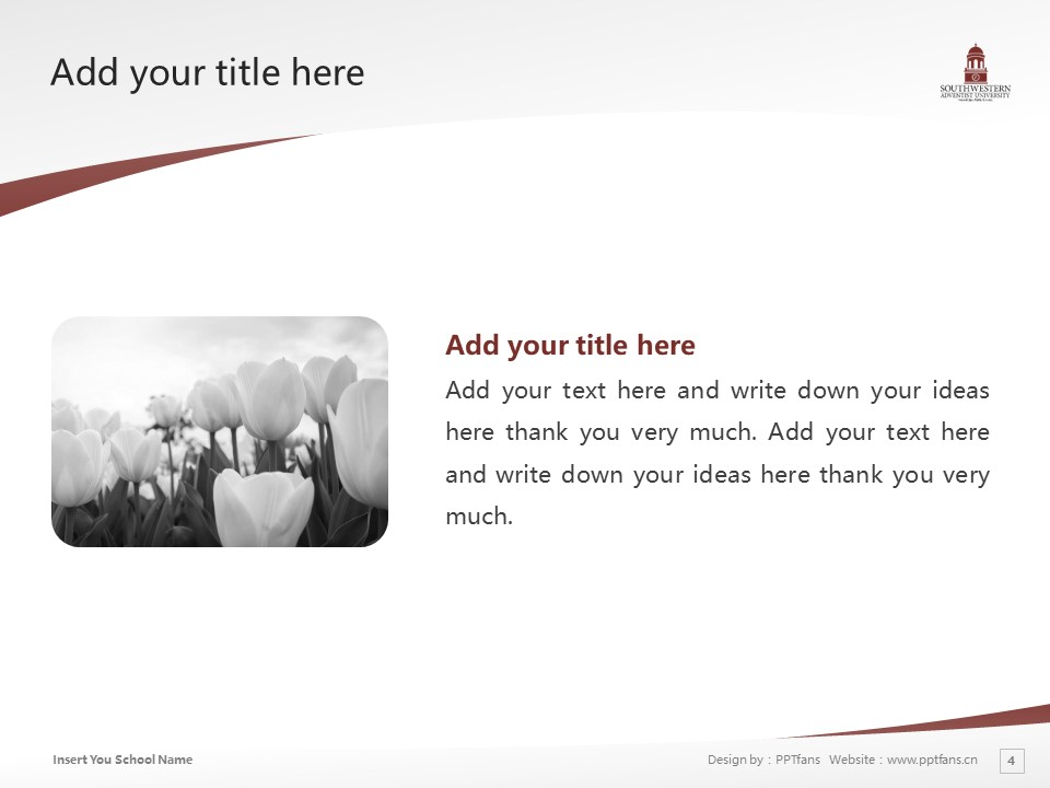 Southwestern Adventist University Powerpoint Template Download | 西南基督复临大学PPT模板下载_slide4
