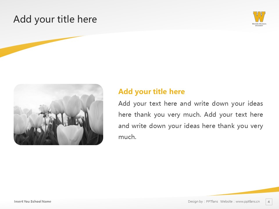 Western Michigan University Powerpoint Template Download | 西密歇根大学PPT模板下载_幻灯片4