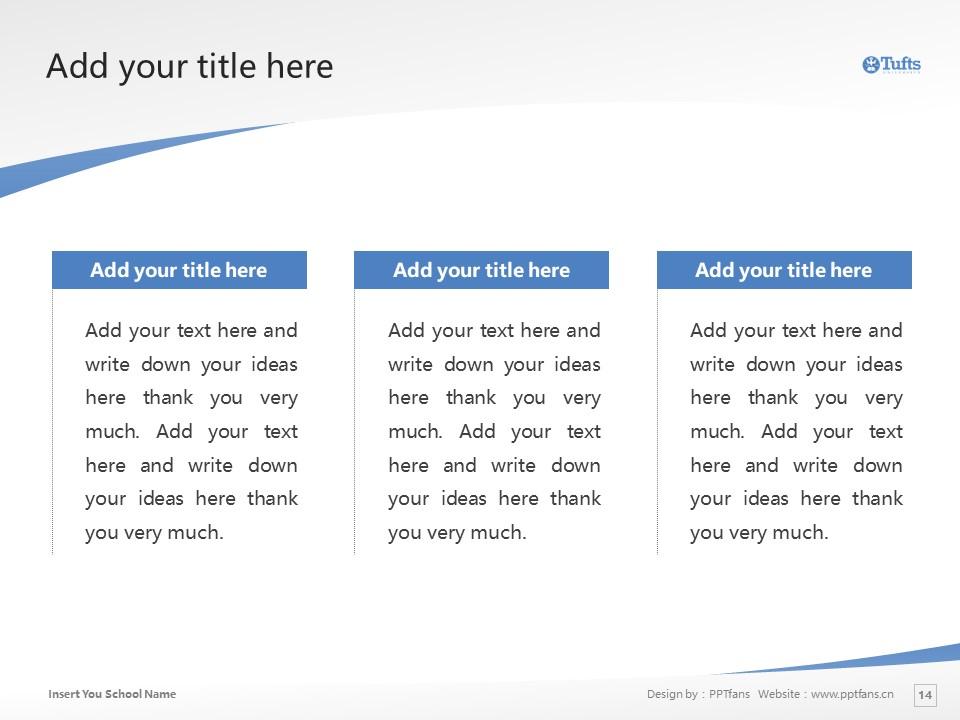 Tufts University Powerpoint Template Download | 塔夫茨大学PPT模板下载_slide14
