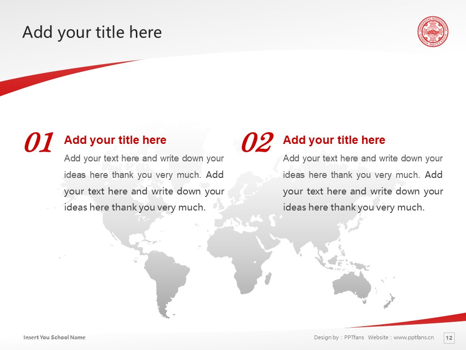 Boston University Powerpoint Template Download | 波士顿大学PPT模板下载_slide11