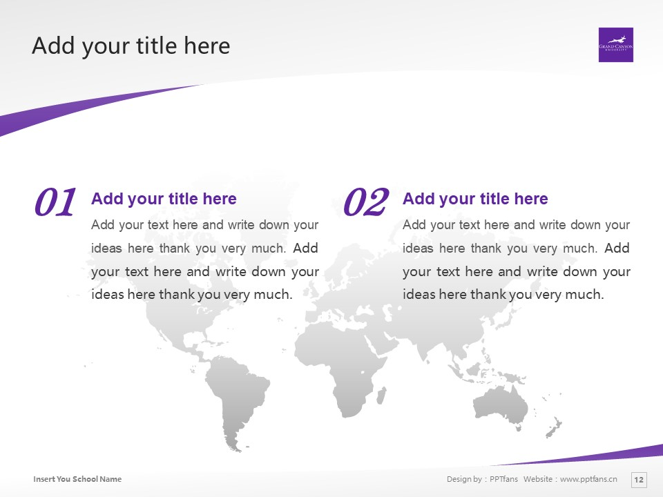 Grand Canyon University Powerpoint Template Download | 大峡谷大学PPT模板下载_slide12