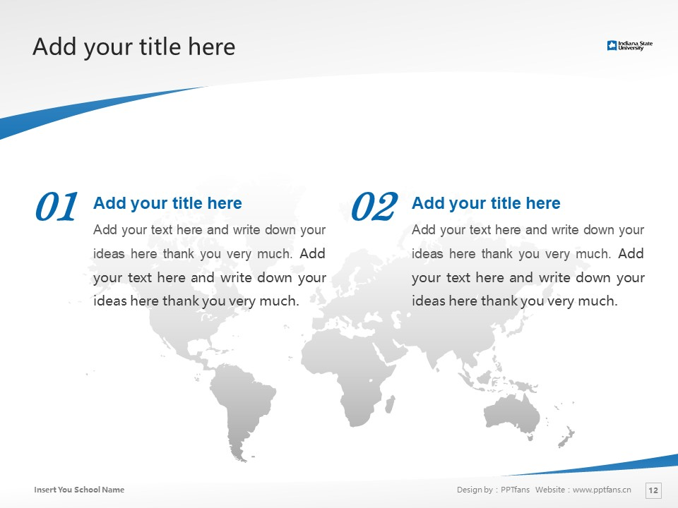 Indiana State University Powerpoint Template Download | 印第安纳州立大学PPT模板下载_slide12