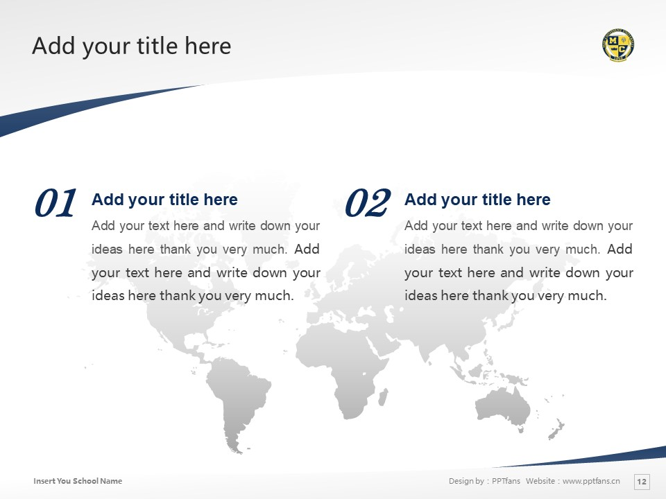 Mid-Continent College Powerpoint Template Download | 中陆学院PPT模板下载_slide12