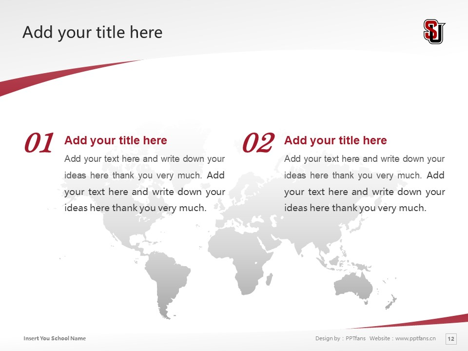 Seattle University Powerpoint Template Download | 西雅图大学PPT模板下载_幻灯片12